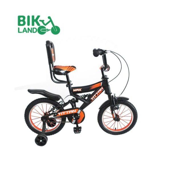 دوچرخه سواری مشکی بچه گانه تیتان مدل 16218 سایز 16