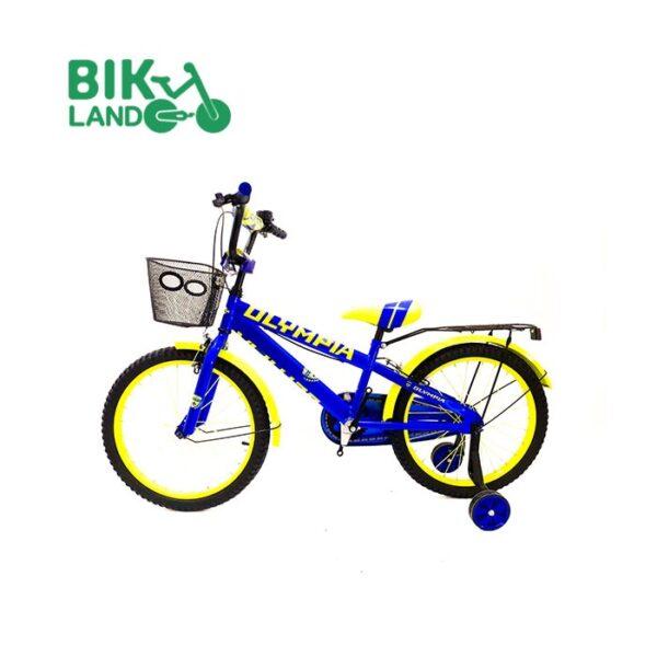 دوچرخه زرد بچه گانه المپیا مدلS20822 کد 20251 سایز 20 مناسب برای کودکان