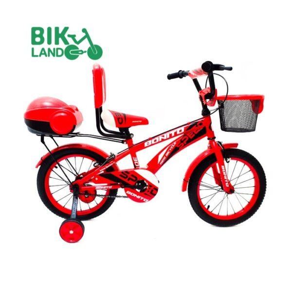 دوچرخه بچه گانه بونیتو صندوق دار مدل 16307 سایز 16 رنگ قرمز
