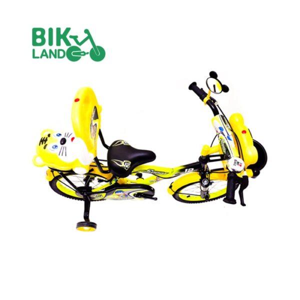 دوچرخه بچگانه دلفین سایز 16 رنگ زرد صندوق دار