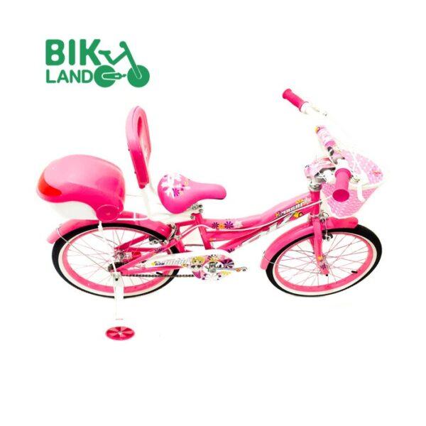 دوچرخه بچگانه اکی سایز 20 رنگ صورتی صندوق دار دارای پشتی