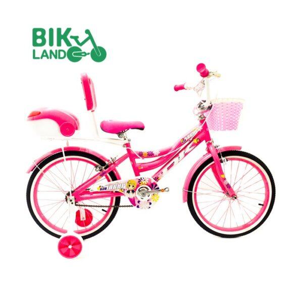 دوچرخه بچگانه اکی سایز 20 رنگ صورتی سبد دار