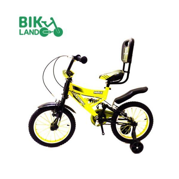 دوچرخه سواری بچه گانه تیتان زرد رنگ مدل 16218 سایز 16