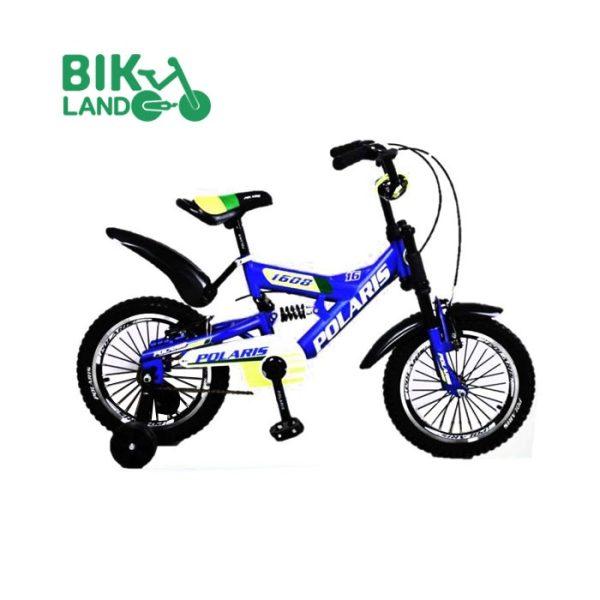 دوچرخه بچه گانه آبی پولاریس مدل 1608 سایز 16