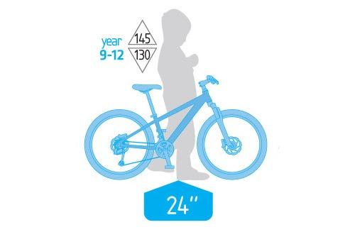 دوچرخه کوهستان سایز 24