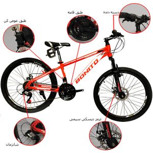 اینفوگرافی دوچرخه بونیتو مدل استرانگ