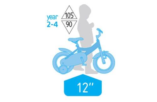 سایز دوچرخه بچه گانه