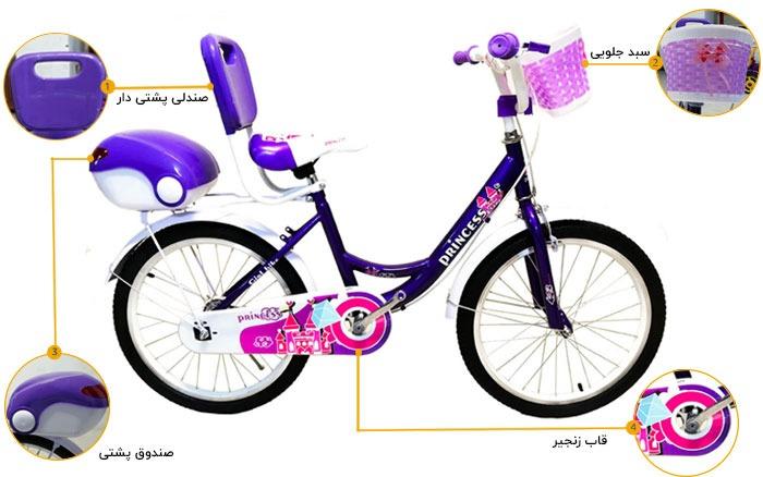 اینفوگرافی دوچرخه دخترانه پرنسس