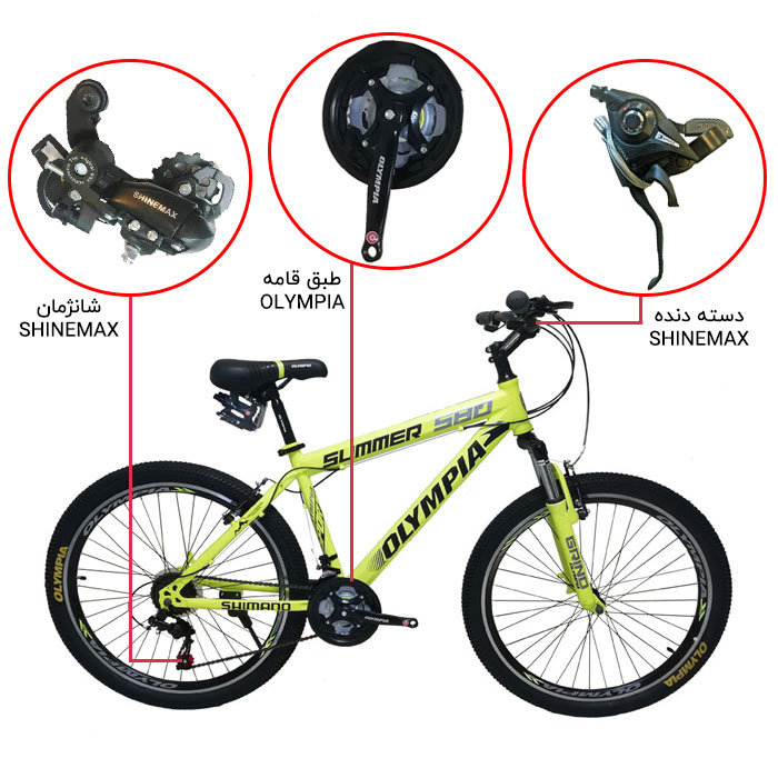 اینفوگرافی دوچرخه کوهستان المپیا مدل سامر S80
