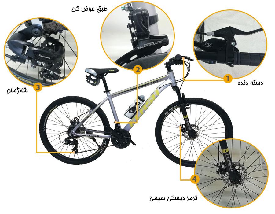 اینفوگرافی دوچرخه کوهستان فلش ultrad17