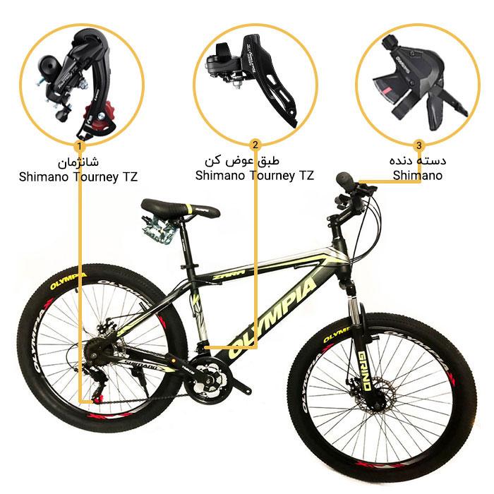اینفوگرافی دوچرخه المپیا مدل زارا 26