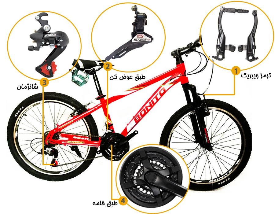 اینفوگرافی دوچرخه بونیتو مدل strong 1v