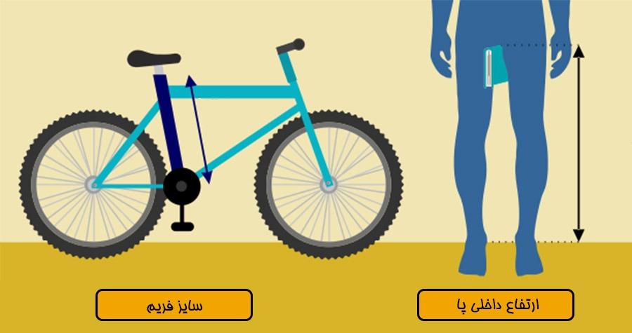 سایزهای دوچرخه بر اساس فریم