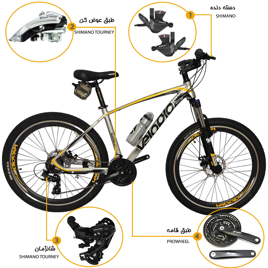 اینفوگرافی دوچرخه ولوپرو مدل vp8000