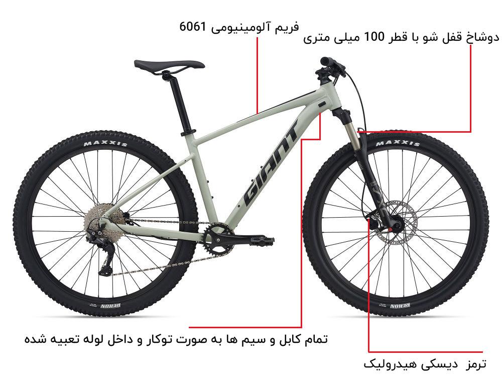 اینفوگرافی دوچرخه giant-TALON-2