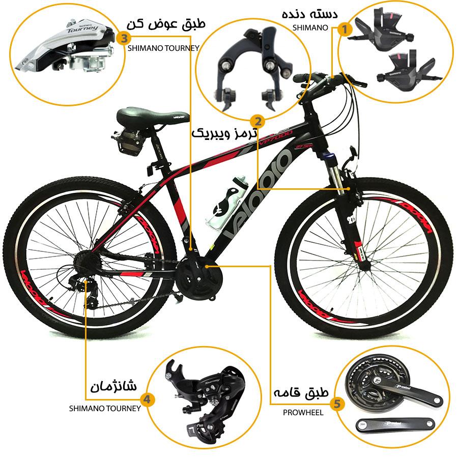 اینفوگرافی دوچرخه ولوپرو vp7000  سایز 27.5